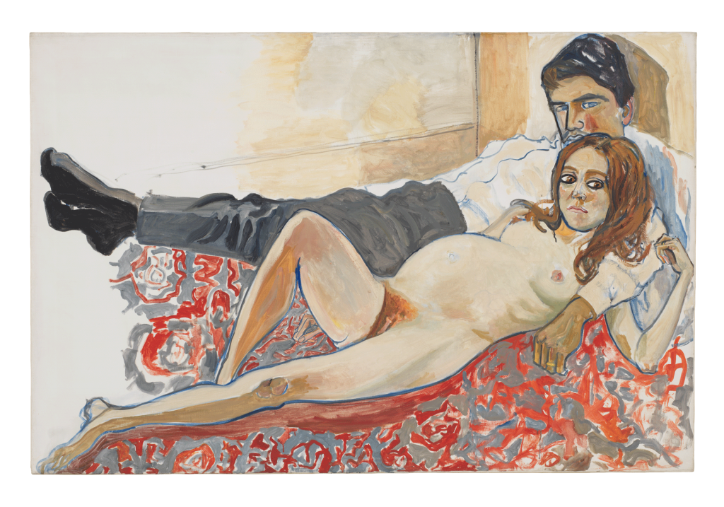 Alice Neel, Pregnant Julie and Algis, 1967, private collection.
