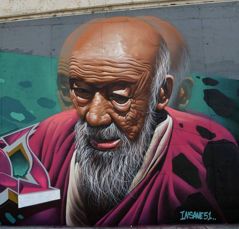 The Best Street Art in Athens. Insane51, Monk, 2016, Athens.