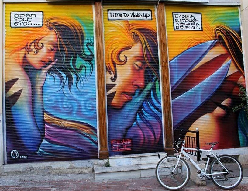 Street Art: WD, Enough is Enough, 2013, Athens, Greece.