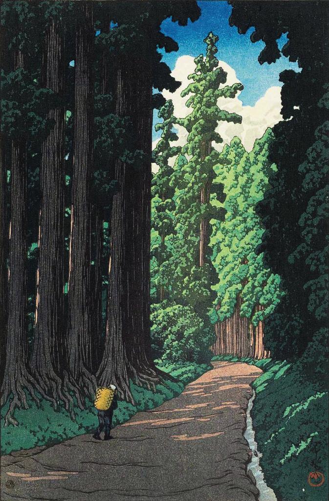 Anime in the prints of Hasui Kawase: Hasui Kawase, Nikko Kaido, 1930, Ronin Gallery, New York, NY, USA. Artsy.
