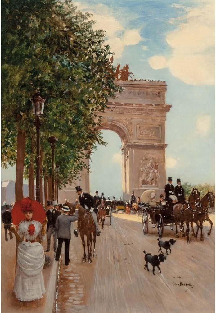 Jean-Georges Béraud, Arc de Triomphe, Champs-Élysées, c. 1882-6, location unknown.