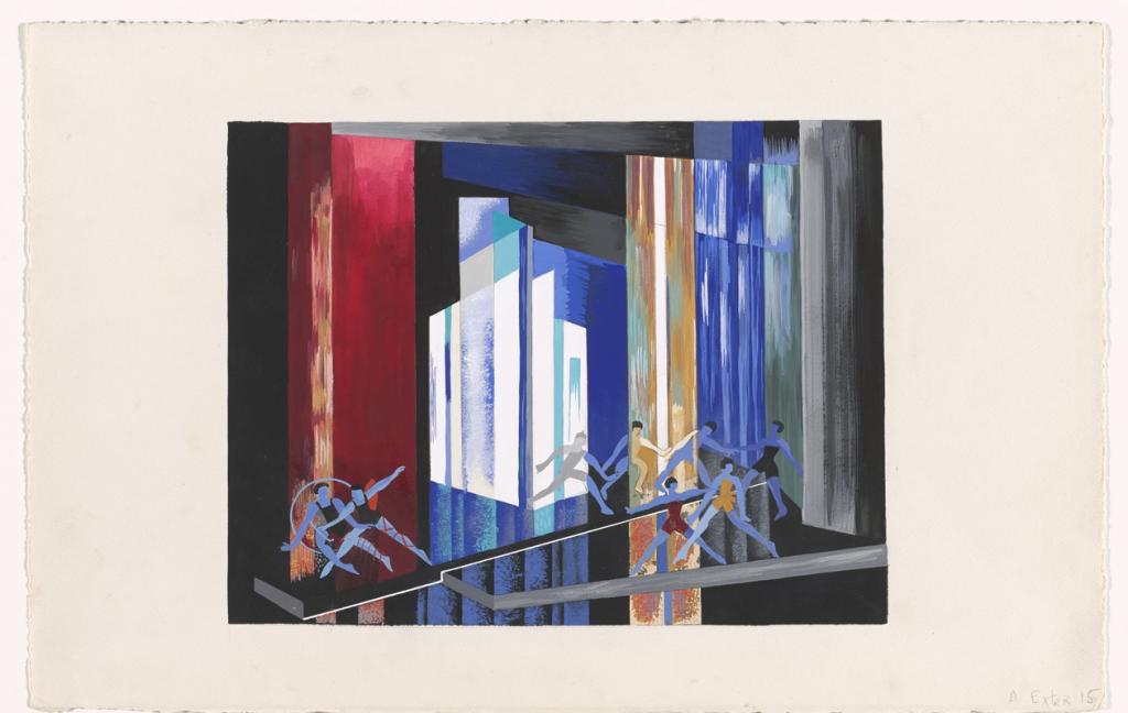 Aleksandra Exter, Ballet, Light Maquette, from Alexandra Exter: Stage Sets, 1926–30, one from an album of fifteen pochoirs, Museum of Modern Art, New York, USA.