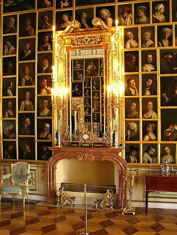 Chamber of Fashion and Grace in The Peterhof palace, St. Petersburg, Russia