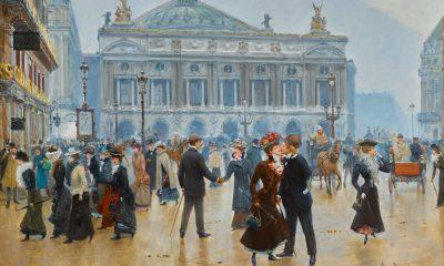 Jean Béraud, L'Arrivée des midinettes, 1901, oil on canvas, Sotheby's.