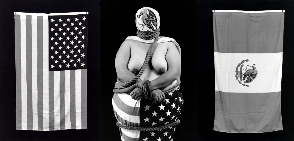 Body in the Art: Laura Aguilar, Three Eagles Flying, 1 990, gelatin silver print, Whitney Museum of American Art, New York, NY, USA.