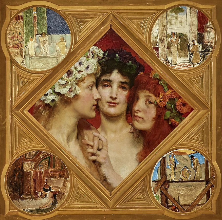 Three Graces in paintings: Sir Lawrence Tadema, The Three Graces,