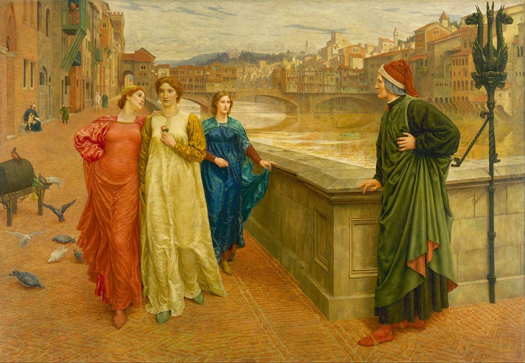 Henry Holiday, Dante and Beatrice, 1882-84, Walker Art Gallery, Liverpool, England, UK.