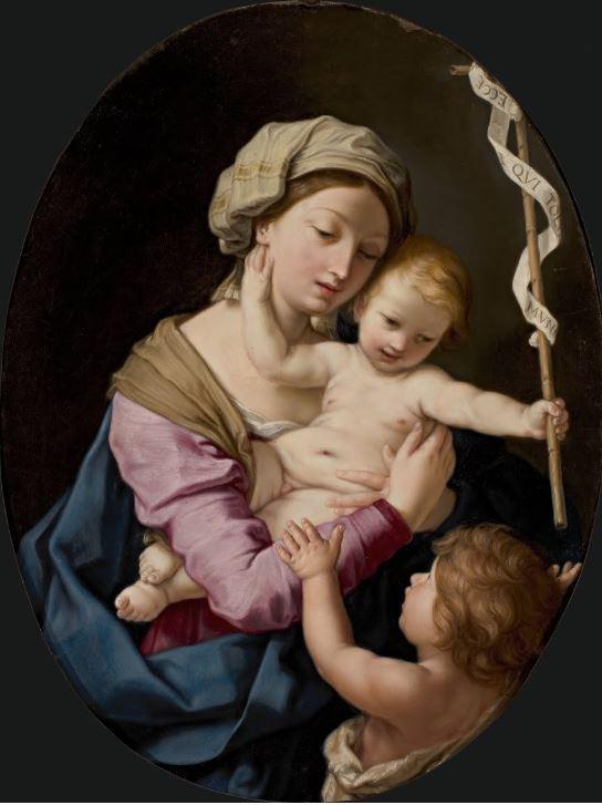 Elisabetta Sirani, Madonna con Bambino e San Giovannino, 1660, private collection. GoogleArts&Culture.