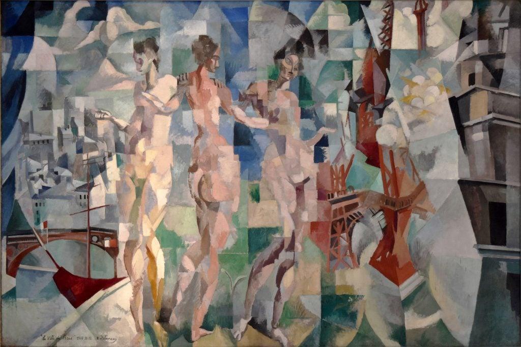 Three Graces in paintings: Robert Delaunay, La Ville de Paris,