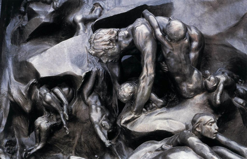 Auguste Rodin, Ugolino and his sons group,The Gates of Hell, 1880-1917, Musée Rodin, Paris, France. Detail,