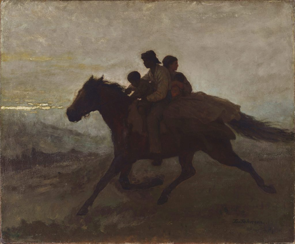 Eastman Johnson, A Ride for Liberty, 1862, Virginia Museum of Fine Arts, Richmond, Virginia, USA.