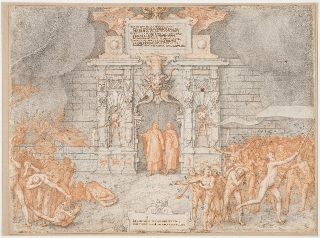 Federico Zuccari, The Gates of Hell, 1586-1588, Uffizi Gallery, Florence, Italy.