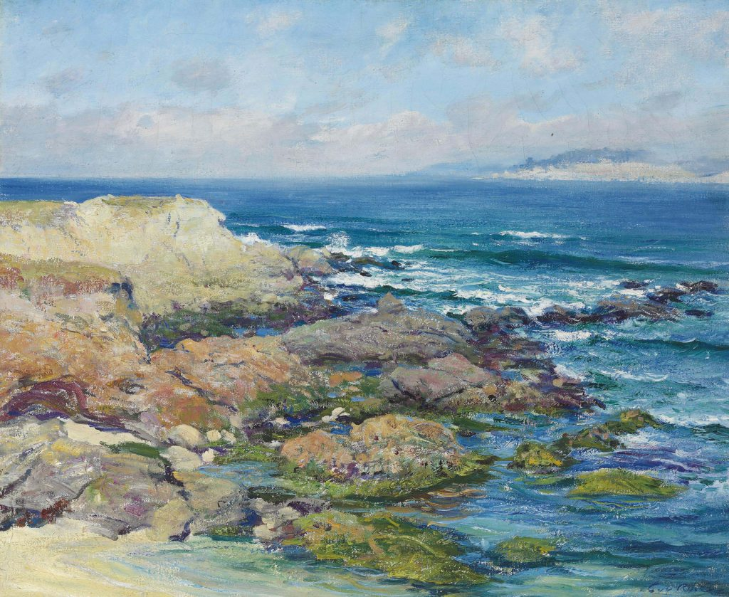 California landscape in art: Guy Rose, Martin's Point, Carmel, ca. 1867-1925, private collection.