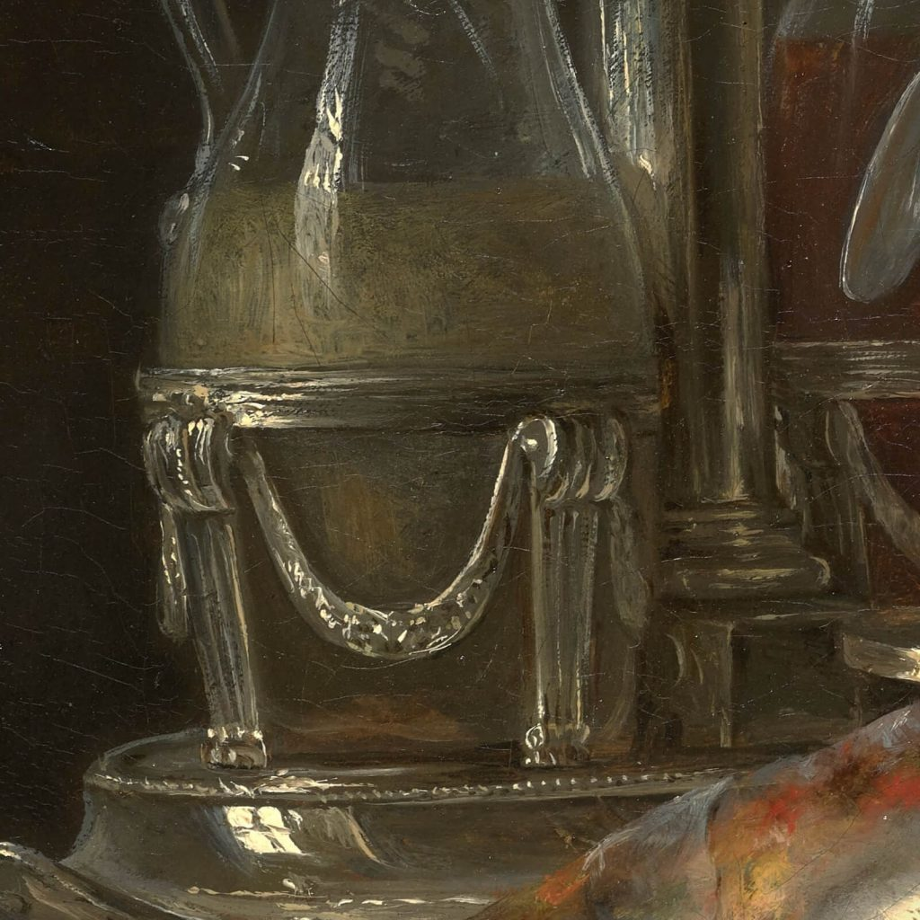 Anne Vallayer-Coster, Still Life with Mackerel, 1787, Kimbell Art Museum, Fort Worth, TX, USA. Detail.