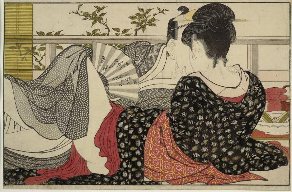 "Kitagawa Utamaro, Poem of the Pillow ""Uta makura"", 1788, 20th-century edition, George Șerban Collection. Celebrities of the floating world."