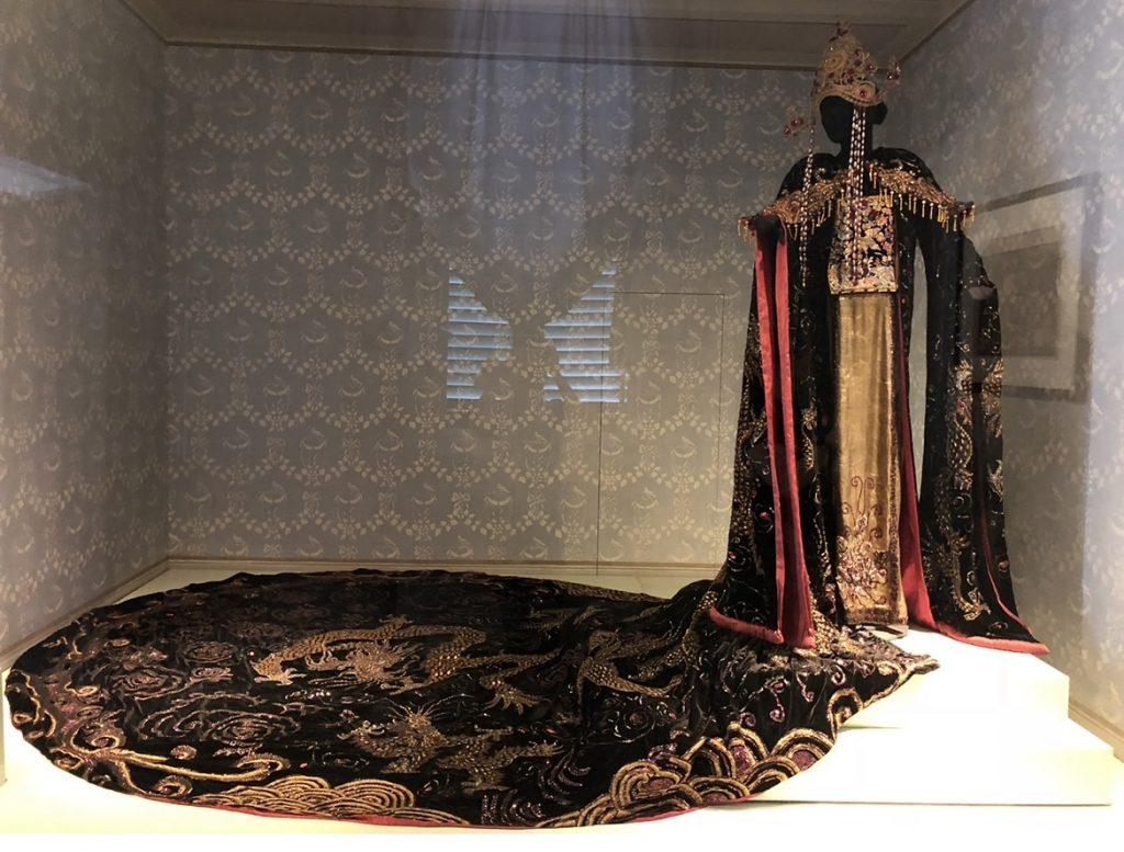 Opera in Art: Costume Design for Act II of Turandot, Turandot's elaborate dress, embroidery on dark velvet