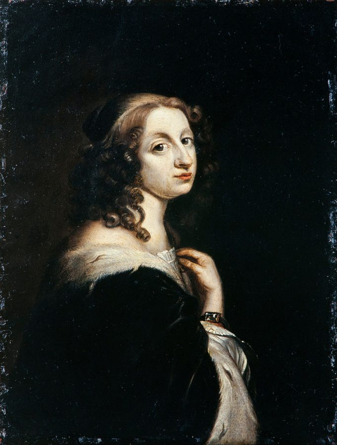 Great Queens of History:  David Beck, Christina Queen of Sweden, c1650, Royal Armoury, Stockholm, Sweden.
