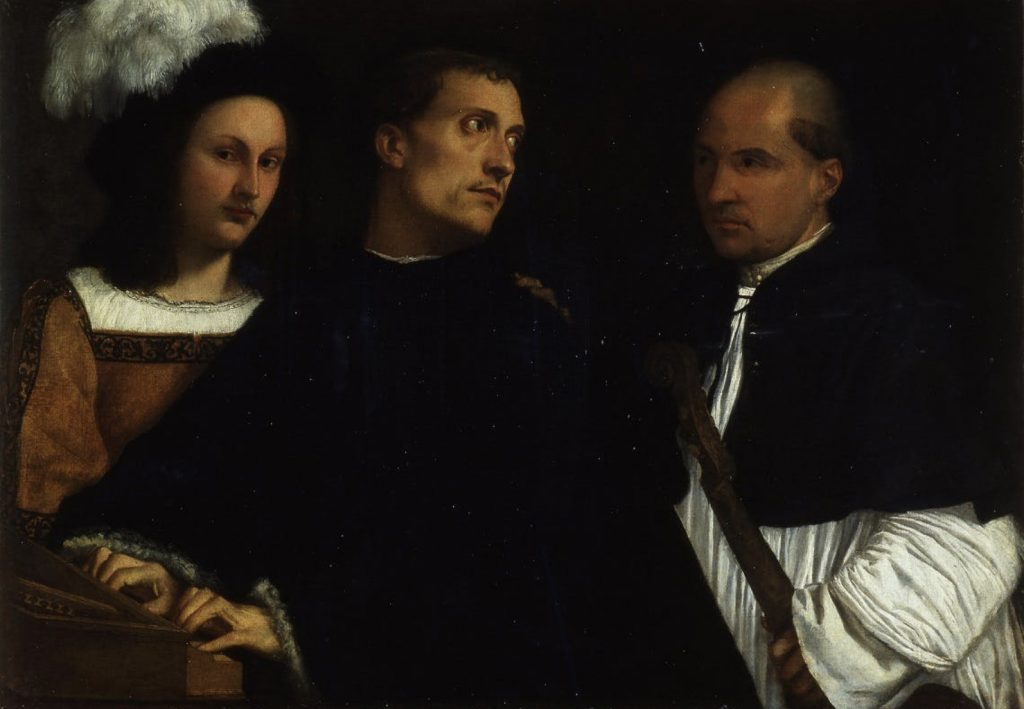Opera in Art: Titian, The Concert, Three musicians prepare to perform