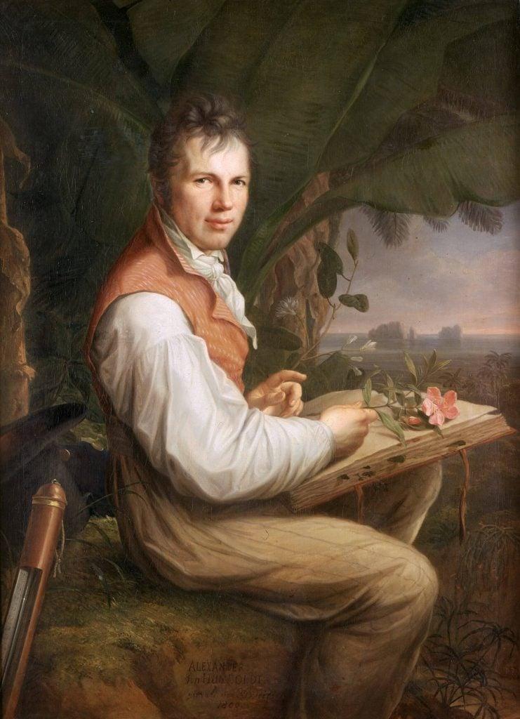 Friedrich Georg Weitsch, Portrait of Alexander von Humboldt, 1806, Alte Nationalgalerie, Berlin, Germany.