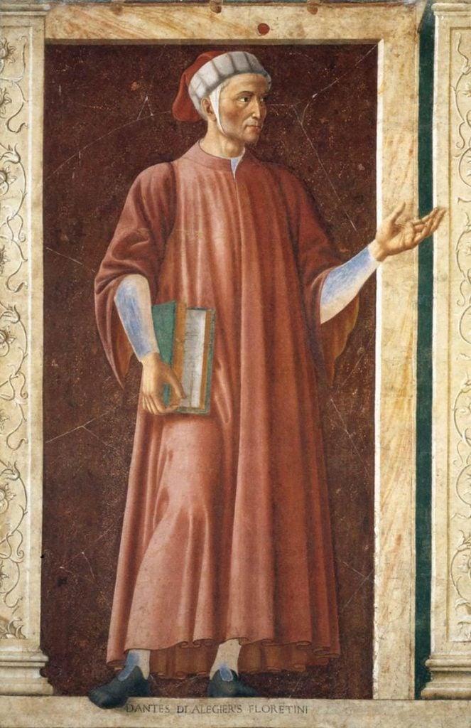 Andrea del Castagno, Dante Alighieri, 1450, Uffizi Gallery, Florence, Italy.