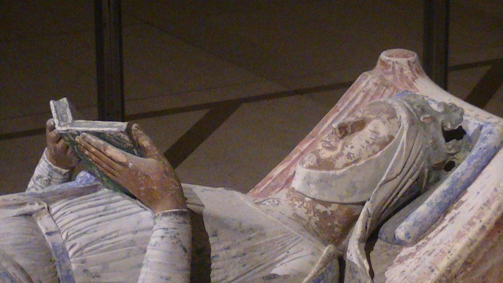 Wronged Royal wives: Effigy of Eleanor of Aquitaine, c.1204, Church of Fontevraud Abbey, France.