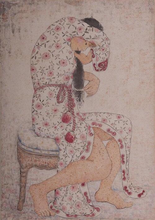 Pan Yuliang, Combing, 1961, Anhui Museum, Hefei, Anhui Province, China.
