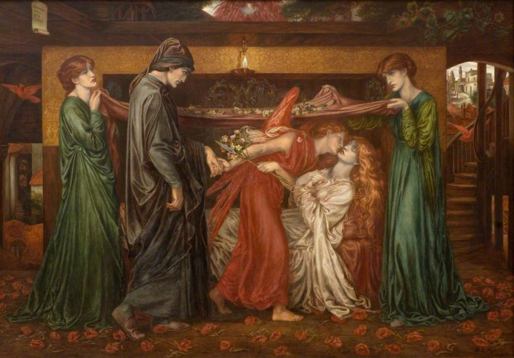 Dante Gabriel Rossetti, Dante's Dream on the Day of the Death of Beatrice, 1880, Dundee Art Galleries and Museums Collection, Scotland, UK.