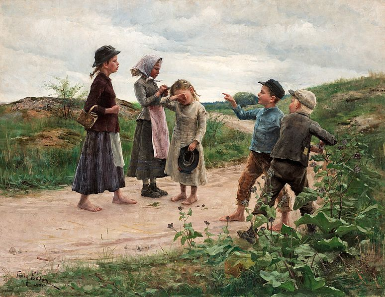 Fanny Brate, Teasing Children, 1885, private collection. Wikipedia.