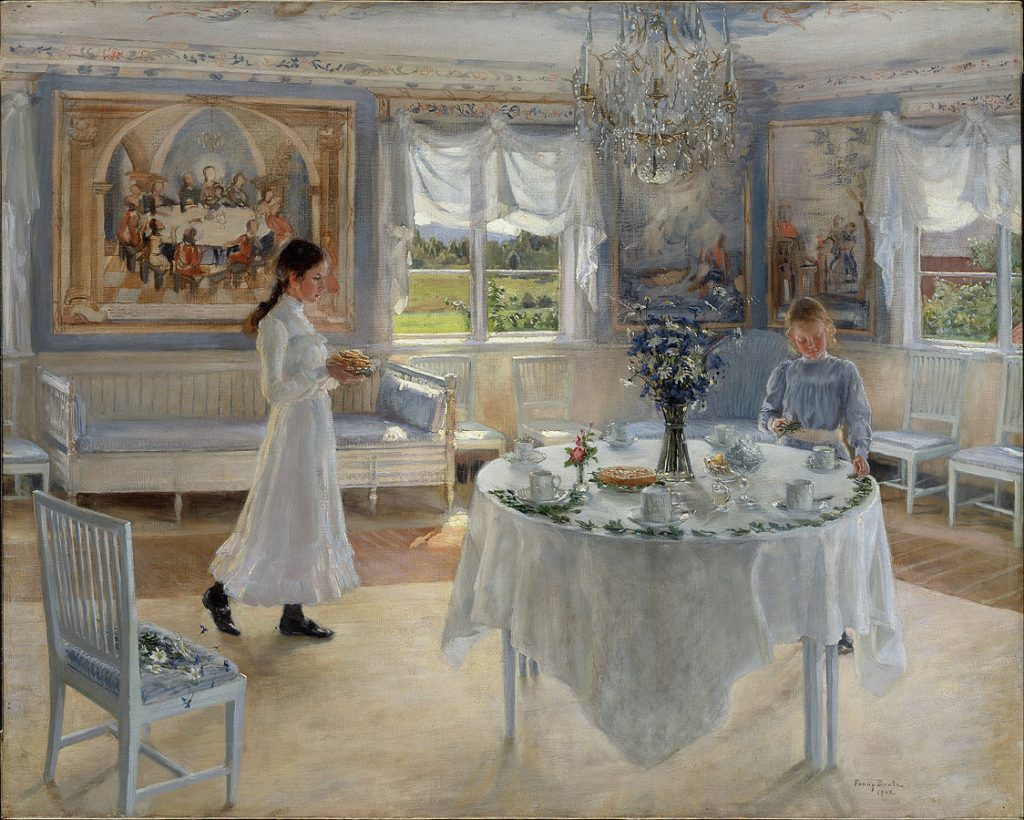 Fanny Brate, A Day of Celebration, 1902, The National Museum, Stockholm, Sweden. Wikipedia.