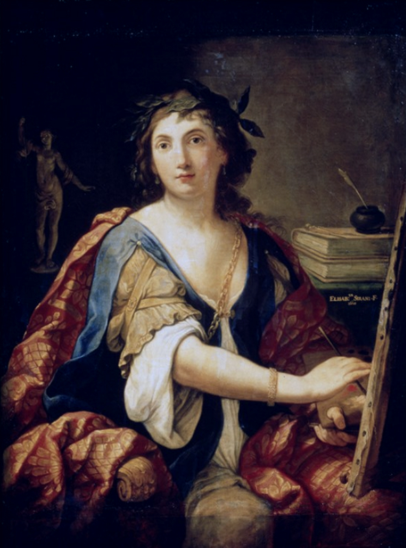 Elisabetta Sirani, Self Portrait as an Allegory of Painting, 1658, Pushkin Museum, Moscow. Russia. Wikipedia.