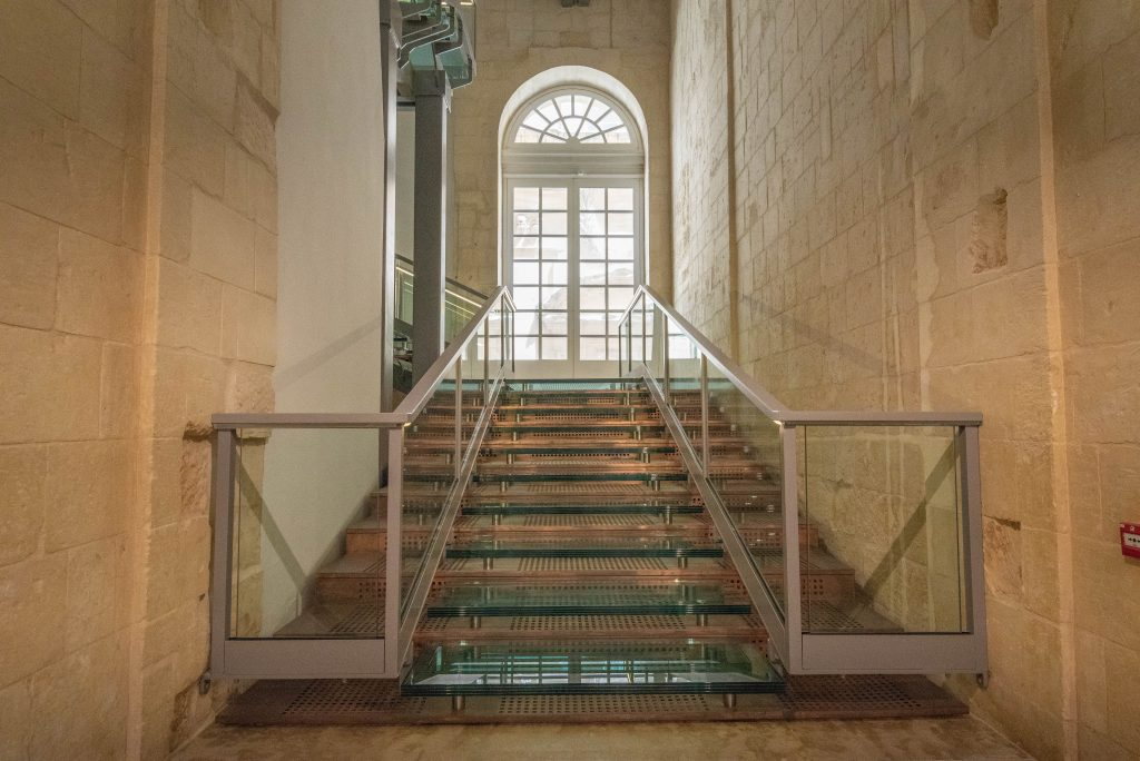 Reconstruction of the Auberge d'Italie grand staircase, MUŻA - National Community Art Museum/Heritage Malta.
