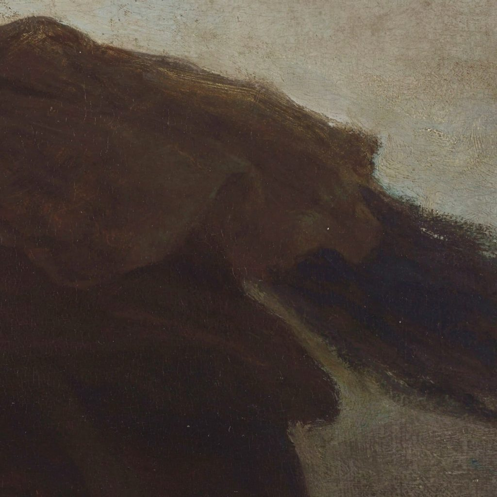 Eastman Johnson, A Ride for Liberty, 1862, Virginia Museum of Fine Arts, Richmond, Virginia, USA. Enlarged Detail of Drapery.
