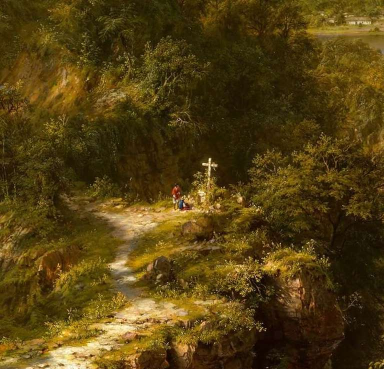Frederic Church, Heart of the Andes, 1859, The Metropolitan Museum of Art, New York, NY, USA. Detail.