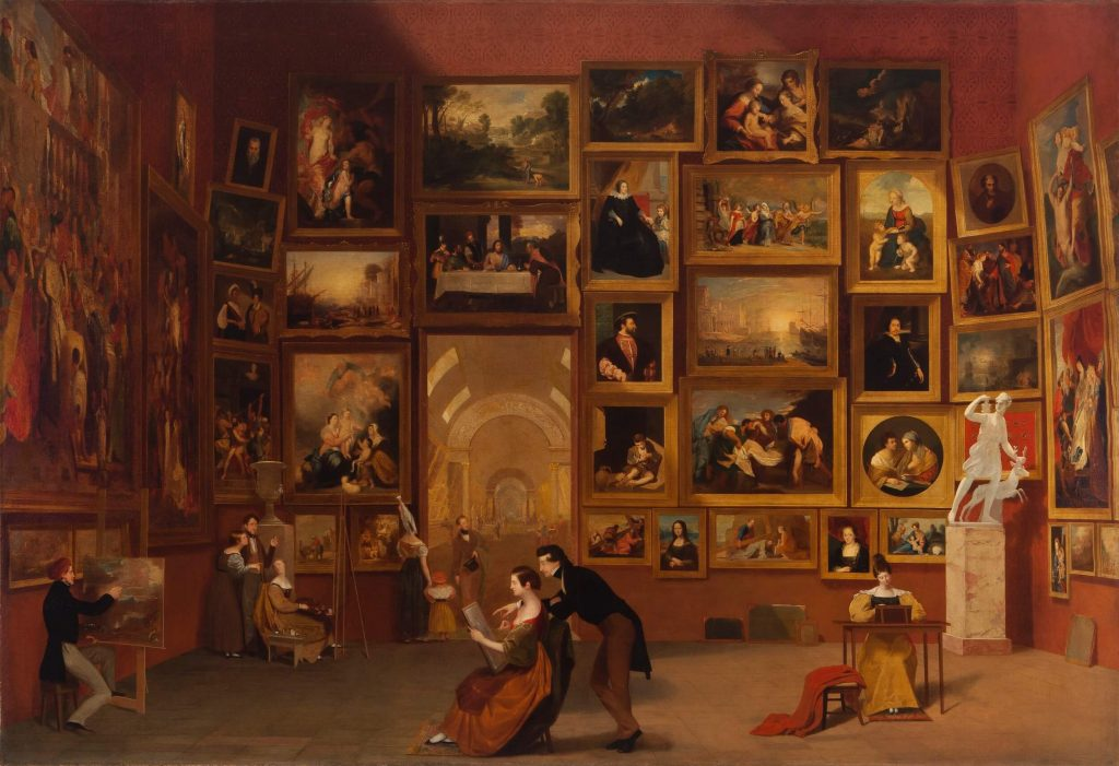 Samuel F. B. Morse, Gallery of the Louvre, 1831-1833, Terra Foundation for American Art, Chicago, IL, USA. Museums in art