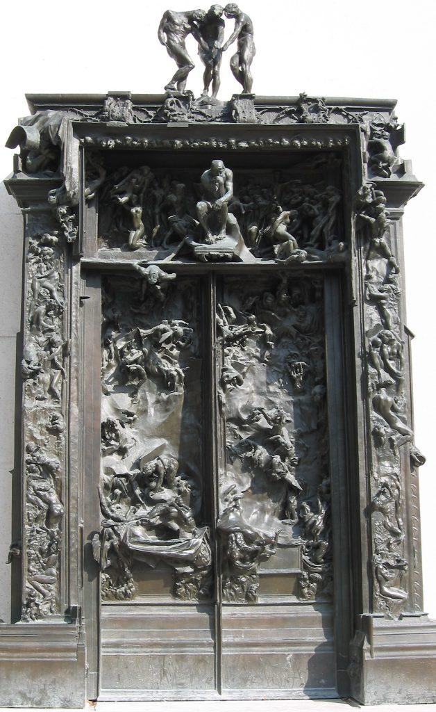 Auguste Rodin, The Gates of Hell (a Porte de l'Enfer), 1880-1917, Musée Rodin, Paris, France.
