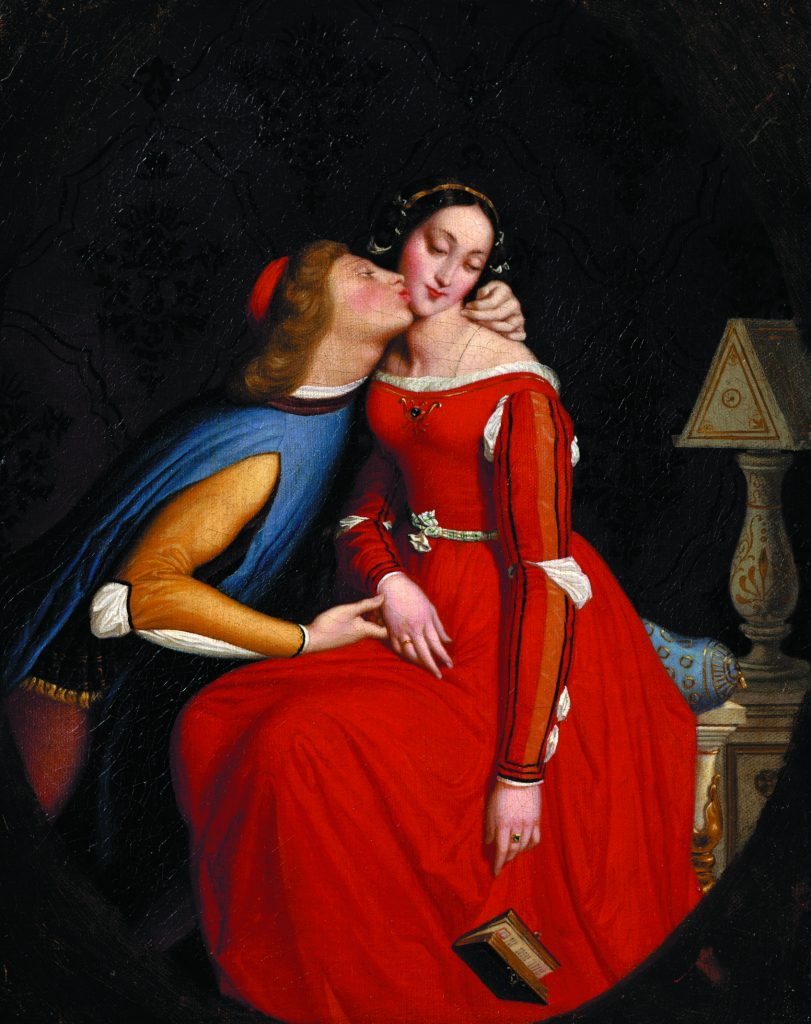 Jean Auguste Dominique Ingres, Paolo and Francesca, 1856-57, The Hyde Collection, Glen Falls, NY, USA.