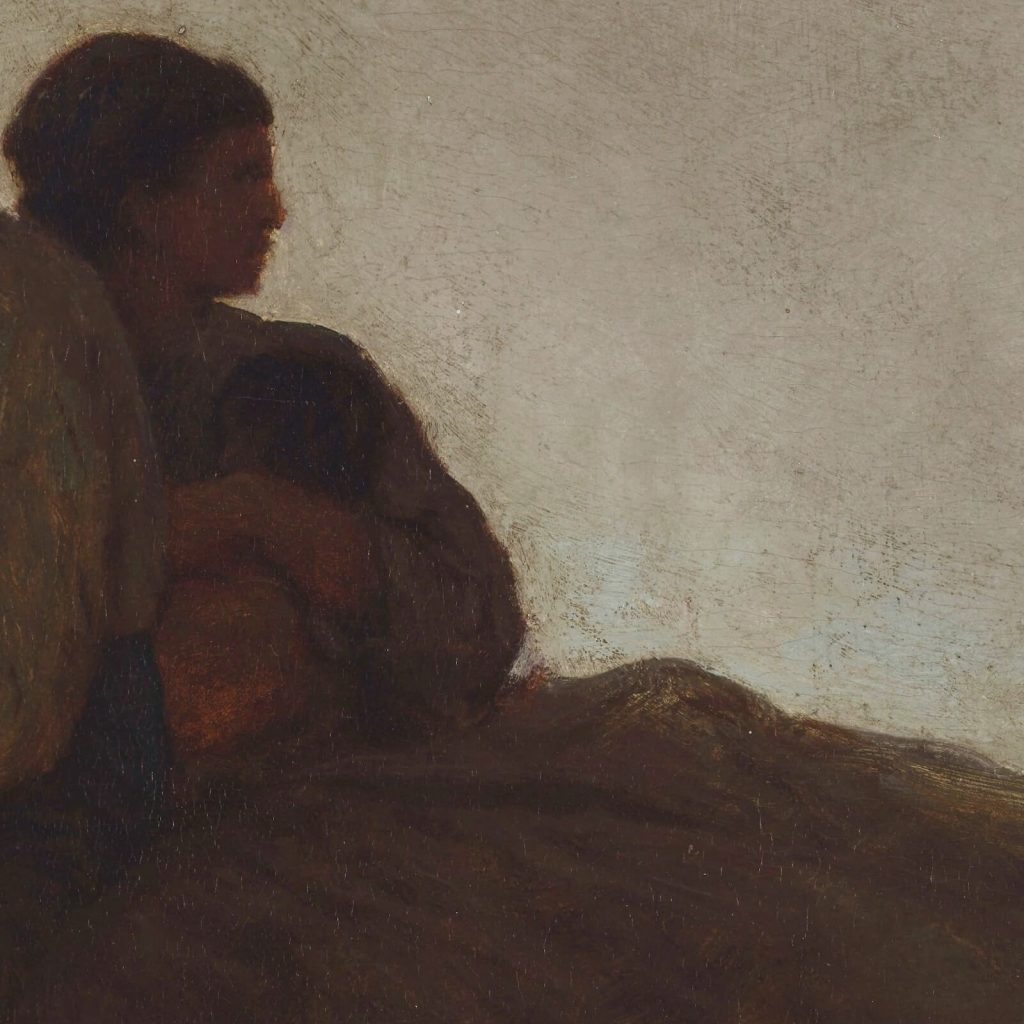 Eastman Johnson, A Ride for Liberty, 1862, Virginia Museum of Fine Arts, Richmond, Virginia, USA. Enlarged Detail of Mother.