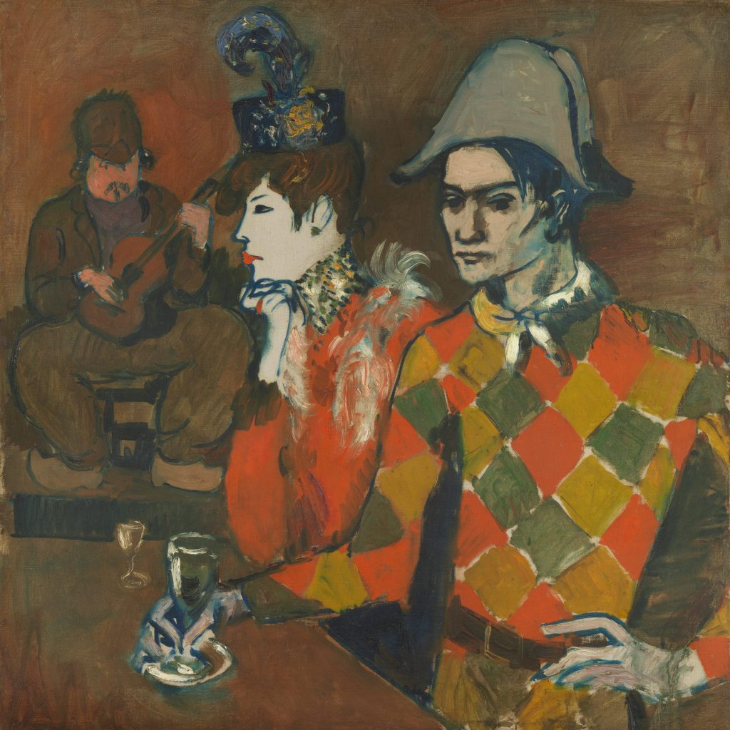 Commedia dell'arte characters in art: Pablo Picasso, At the Lapin Agile, 1905, Metropolitan Museum of Art, New York, U.S.A