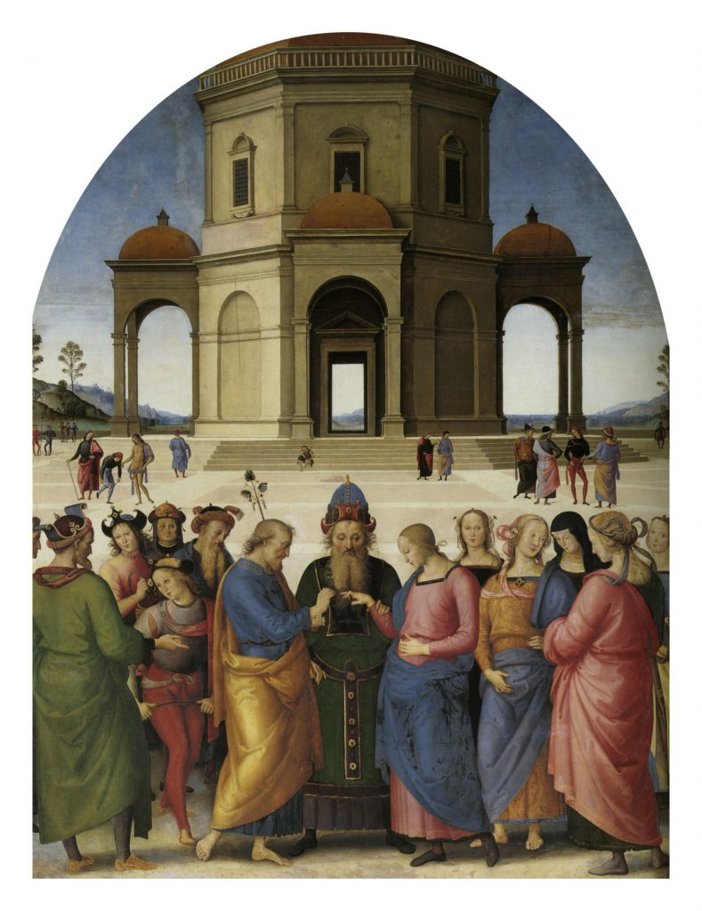 The Marriage of the Virgin. Perugino, The Marriage of the Virgin, 1501-1504, Musée des Beaux-Arts, Caen, France.