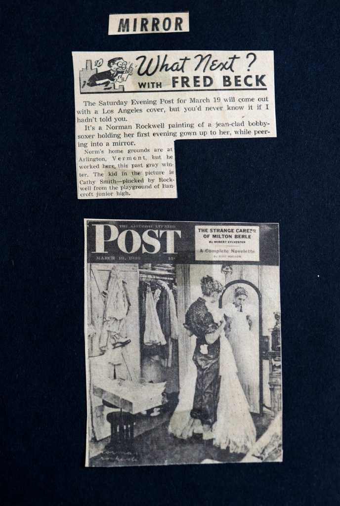 Norman Rockwell Model: Page from Cathy Burow's scrapbook. Photo by Dave LaBelle.