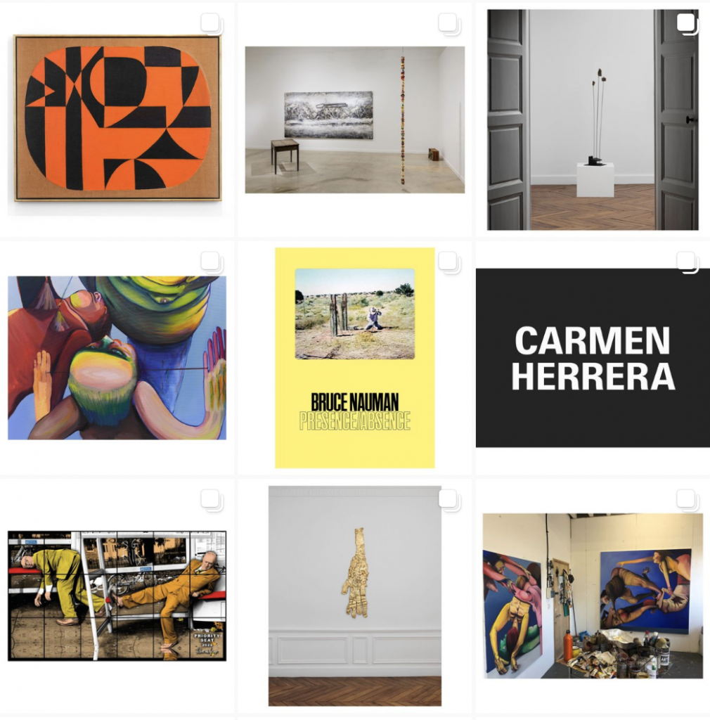 Best Museum Instagram accounts: Screenshot from the White Cube Gallery Instagram page.