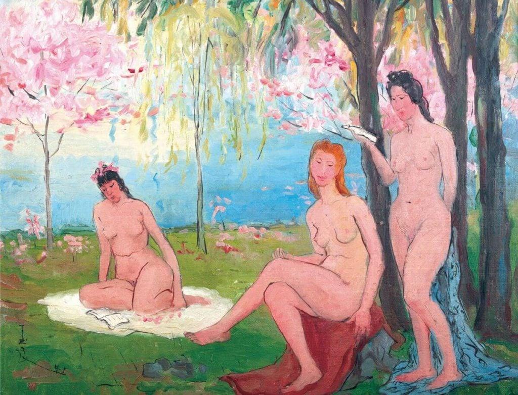 Pan Yuliang, Song of Spring (Three Ladies)