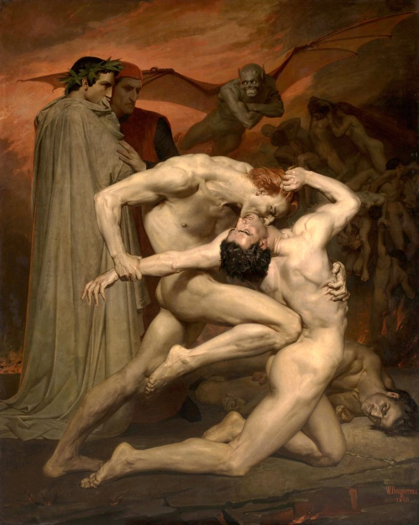 Wiliam-Adolphe Bouguereau, Dante and Virgil in Hell, 1850, Musée d'Orsay, Paris, France.