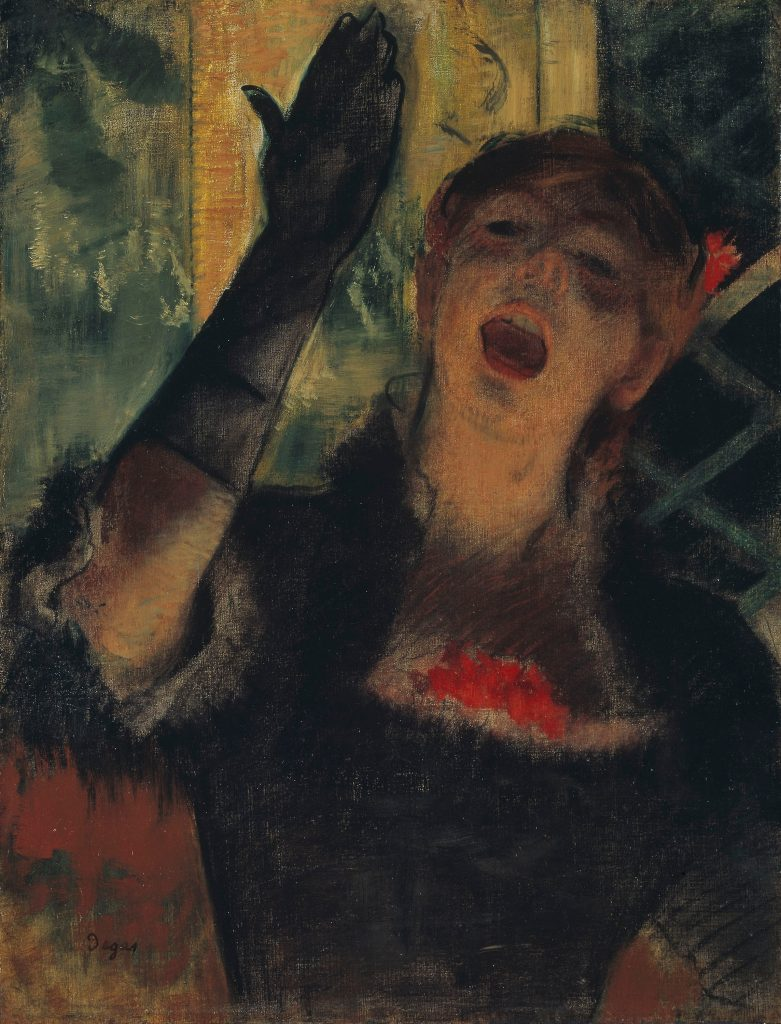 Best depictions of music in paintings: Edgar Degas, Café Singer, ca. 1879. The Art Institute of Chicago, Chicago, IL, USA.