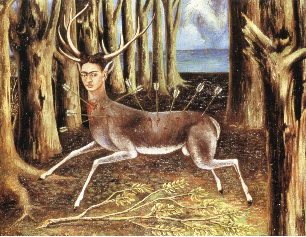 Frida Kahlo and the Symbolism in her Art: Frida Kahlo, The Wounded Deer, 1946, private collection of Carolyn Harb.