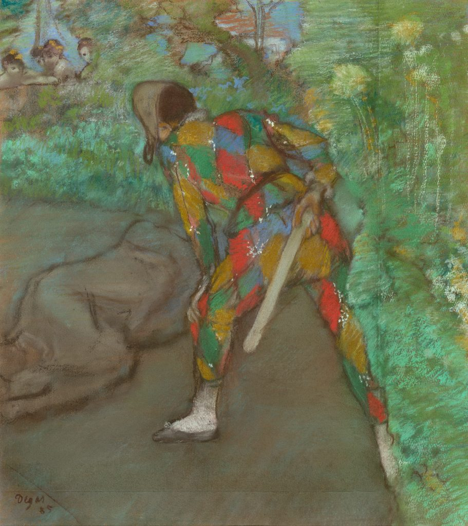 Commedia dell'arte characters in art: Edgar Degas, Harlequin, 1885, The Art Institute of Chicago, Chicago, U.S.A