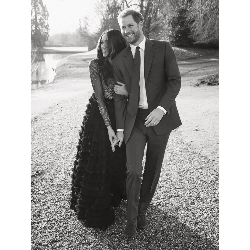 Engagement photo of Prince Harry and Meghan Markle