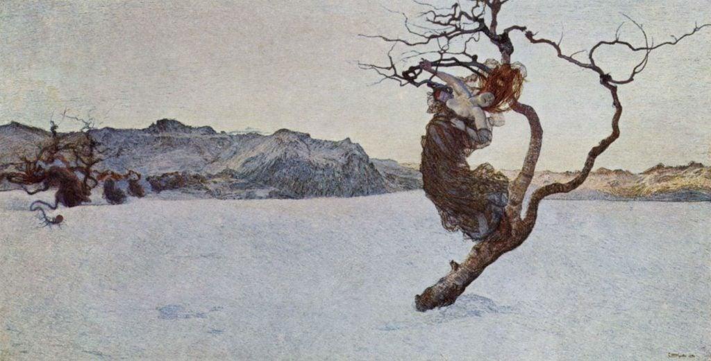 Symbolism in Victorian Era Art: Giovanni Segantini, Evil Mothers, 1894, Belvedere, Vienna, Austria.