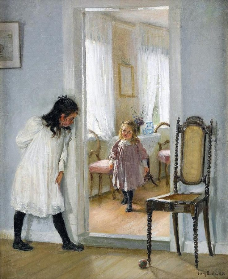 Fanny Brate, Hide and Seek, 1896, private collection. Wikipedia.