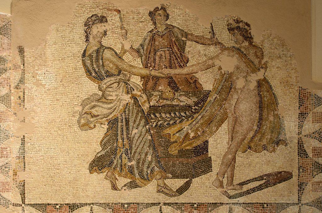 Dance by Three Graces, floor mosaic